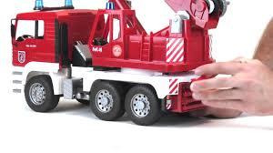 bruder fire truck bruder toys man fire engine crane truck w light u0026 sound module