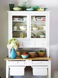 appealing vintage kitchen hutch