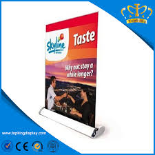 aluminium roll up table cing aluminum customized table roll up banner stand at high quality buy
