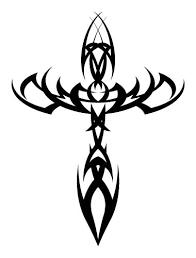tattoo cross tribal design black tribal cross tattoo design tatoos pinterest tribal cross
