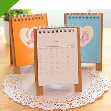 Desk Calendar With Stand Discount 2015 Mini Cartoon Animal Stand Paper Table Calendar