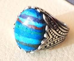 light blue semi precious stone natural rainbow calsilica colorful semi precious stone sterling