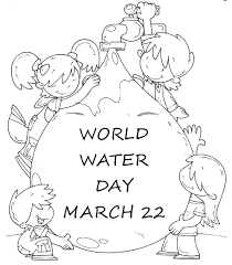 world water day coloring page activity work ideas pinterest