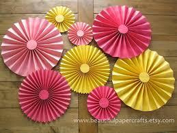 paper fans set of 8 rosettes paper fans pinwheel backdrop decor paper