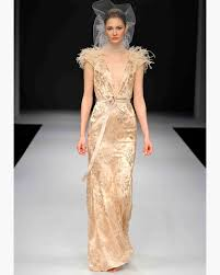 gold wedding dresses gold wedding dresses fall 2012 bridal fashion week martha