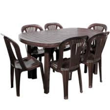 plastic table with chairs dezire plastic dining table set at rs 2413 piece plastic dining