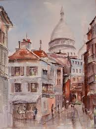Signature Home Decor French Art Watercolor Painting Street Scene And 7 Similar Items