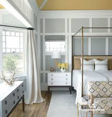 paint paneling for a contemporary bedroom with a gray