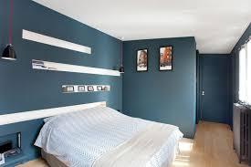 chambre bleu et chambre bleu et gris parentale peinture petrole tete de lit avec
