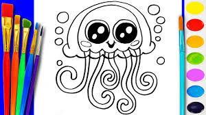 sea animals coloring page to color learning coloring video for