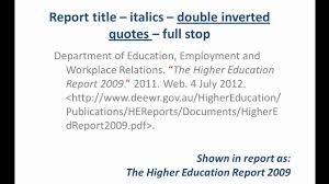 do you quote book titles in mla format mla style referencing an online report youtube