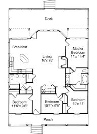 beach style house plan 4 beds 2 00 baths 1520 sq ft plan 37 135