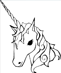 coloring image of unicorn awesome with picture of coloring image