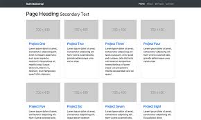 product layout bootstrap four column portfolio free bootstrap template start bootstrap