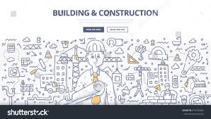 architectural plans doodle vector illustration construction contractor architectural