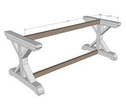 Free And Easy Diy Project And Furniture Plans by Ana White Build A Fancy X Farmhouse Table Free And Easy Diy