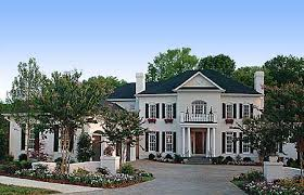 colonial luxury house plans plan 17542lv chimneys georgian car garage and colonial