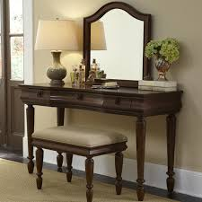 Vanity Set Furniture Vanity Set With Turned Legs By Liberty Furniture Wolf And