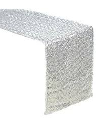 fabric for table runners wedding amazon com silver table runners kitchen table linens home