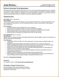 Sample Resume For Retail Store by Job Resume Retail Sales