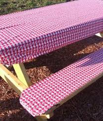 picnic table seat covers picnic table and seat cover set with elastic ends green and white