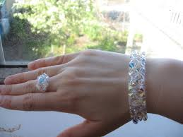 crystal ring bracelet images Aurora borealis ring and bracelet tannis elizabeth designs jpg
