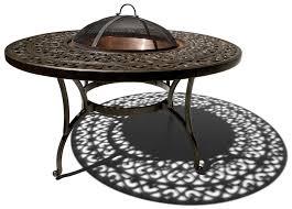 Bjs Patio Dining Set - amazon com strathwood st thomas cast aluminum fire pit with