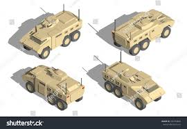 military transport vehicles military transportation isometric vector mine resistant stock