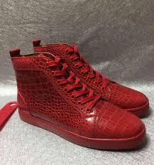 new fashion red bottom crocodile pattern genuine leather fashion