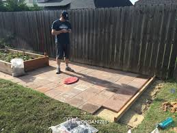 Install Patio Pavers by How To Install A Paver Patio The Foundation Of My Raised Garden