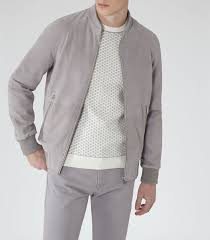 mens grey suede er jacket reiss toulon gray outfit pinterest