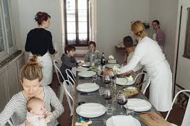 a family lunch at the cook s atelier the yellow table