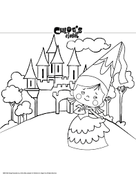 princess chloe castle coloring pages hellokids