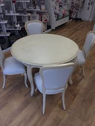 gorgeous cream french style shabby chic round dining table and