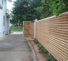 wood lattice wall custom wood american fence company sioux falls
