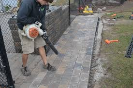 Brick Paver Patio Installation How To Make A Brick Patio On Uneven Ground Home Outdoor Decoration