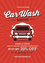 vintage car wash flyer by lilynthesweetpea graphicriver