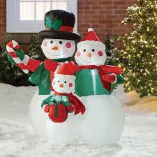 Holiday Blow Up Decorations Three Posts Snowmen Family Decoration U0026 Reviews Wayfair