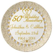 50th anniversary plates custom wedding anniversary plates