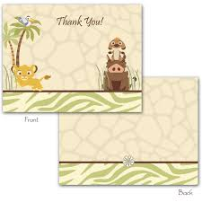 Baby Shower Invitations And Thank You Cards Photo Disney Lion King Baby Image