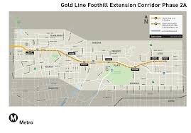 Gold Line Metro Map by Line Maps