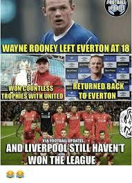 Funny Everton Memes - football updates wayne rooney left everton at 18