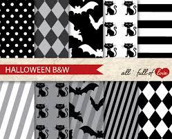 halloween background scrapbook paper digital scrapbooking paper pack halloween black white patterns