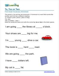 first grade vocabulary worksheets u2013 printable and organized by