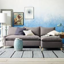 West Elm Sectional Sofa Impressive Bliss Filled Chaise West Elm Throughout Sectional
