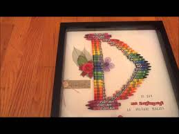 christmas gift idea monogram letter made from crayons youtube