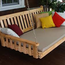 a u0026l furniture traditional english 4 foot cedar outdoor swing bed