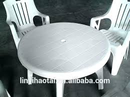 White Resin Patio Tables Plastic Outside Table And Chairs Marvelous Design Inspiration