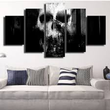 horror home decor aliexpress com buy 5 pcs print framed horror spooky skull