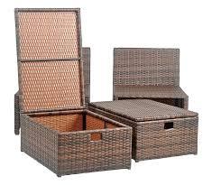 outdoor wicker storage ottoman outdoor ottoman storage